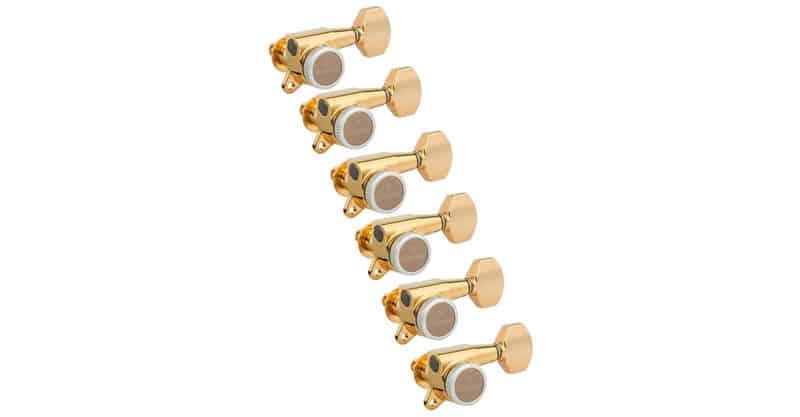 Gotoh Magnum Lock-Trad 6 Inline Guitar Tuners, Gold
