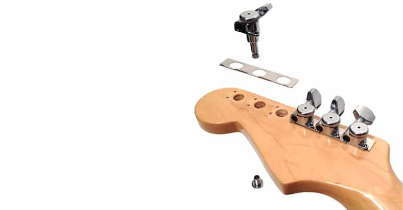 Hipshot Grip-Lock Vintage 6 Inline Staggered Closed 8.5mm Tuners With Universal Mounting Plate