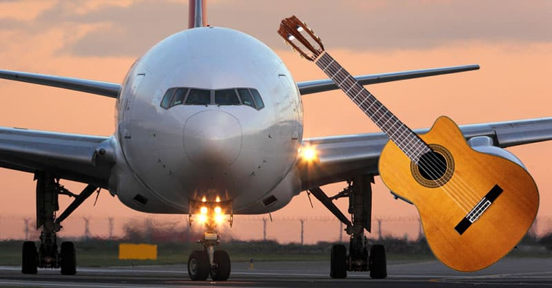 Can I take my guitar on the plane?