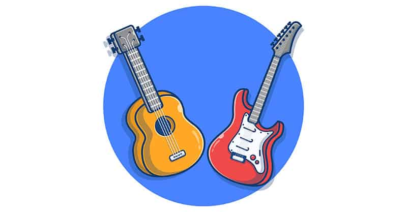 Comparing acoustic and electric guitars