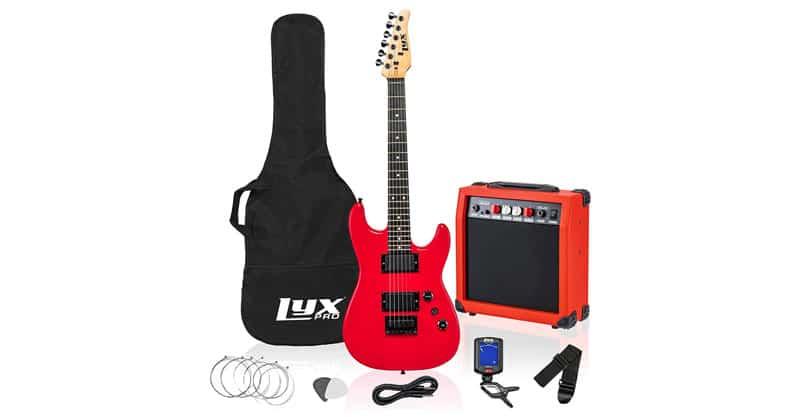 LyxPro 36 Inch Electric Guitar And Kit For Kids