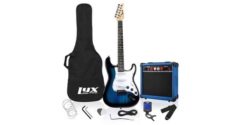 LyxPro 39 Inch Electric Guitar Kit Bundle