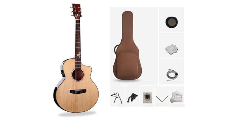 HBIAO Acoustic Guitar Handmade