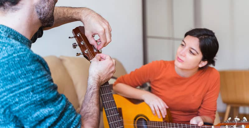 Acoustic guitar maintenance