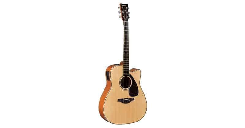 Yamaha FGX820C Solid Top Cutaway Acoustic-Electric Guitar